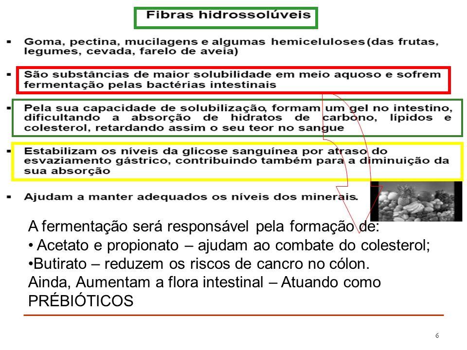 7 FONTES FIBRAS INSOLÚVEIS A recomendação dos órgãos de saúde é de ingestão de 20 a 35 g de fibras diárias.