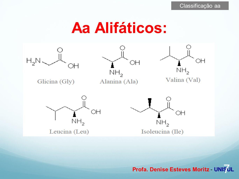 Profa. Denise Esteves Moritz - UNISUL Aa Alifáticos: 7 Classificação aa