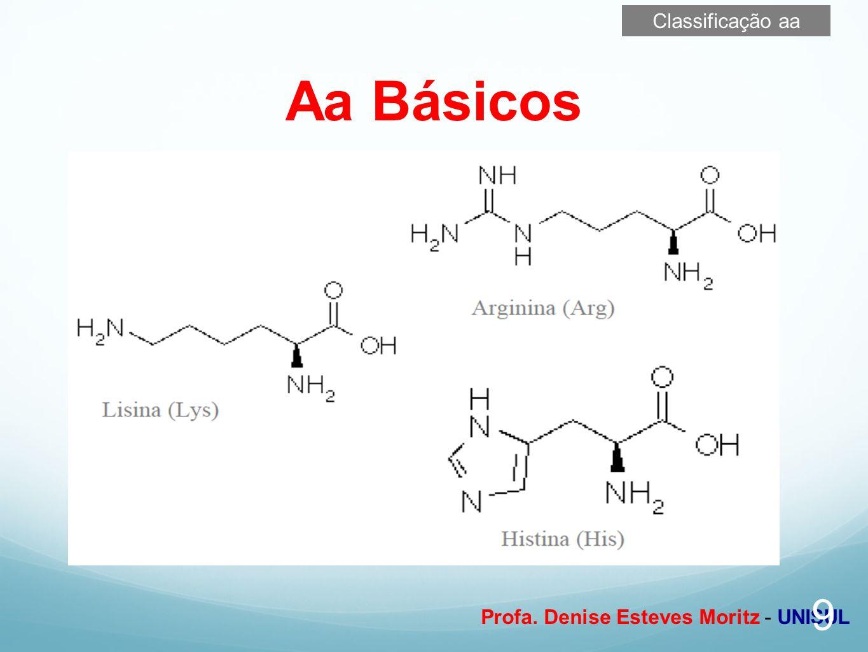 Profa. Denise Esteves Moritz - UNISUL Aa Básicos 9 Classificação aa
