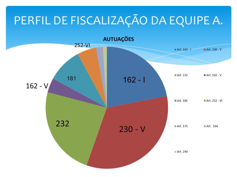 PERFIL DE FISCALIZAÇÃO DA EQUIPE A. 162 - I 181