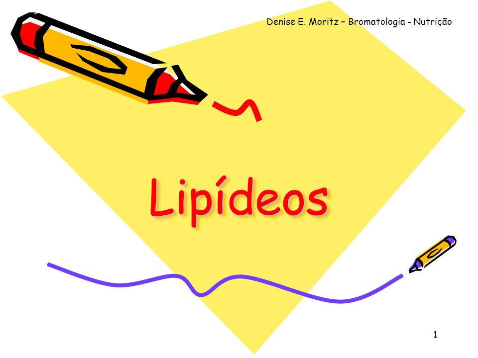 Denise E. Moritz – Bromatologia - Nutrição 1 LipídeosLipídeos