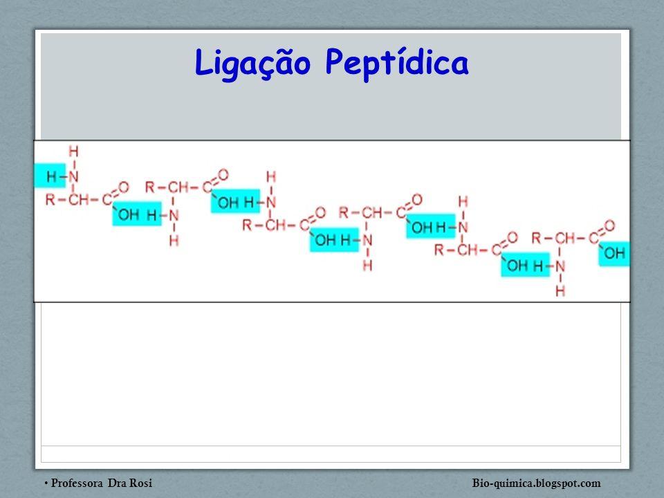 Professora Dra Rosi Bio-quimica.blogspot.com Ligação Peptídica