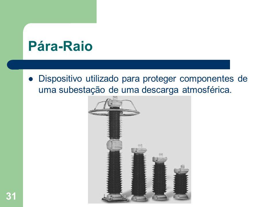 Dispositivo utilizado para proteger componentes de uma subestação de uma descarga atmosférica. 31