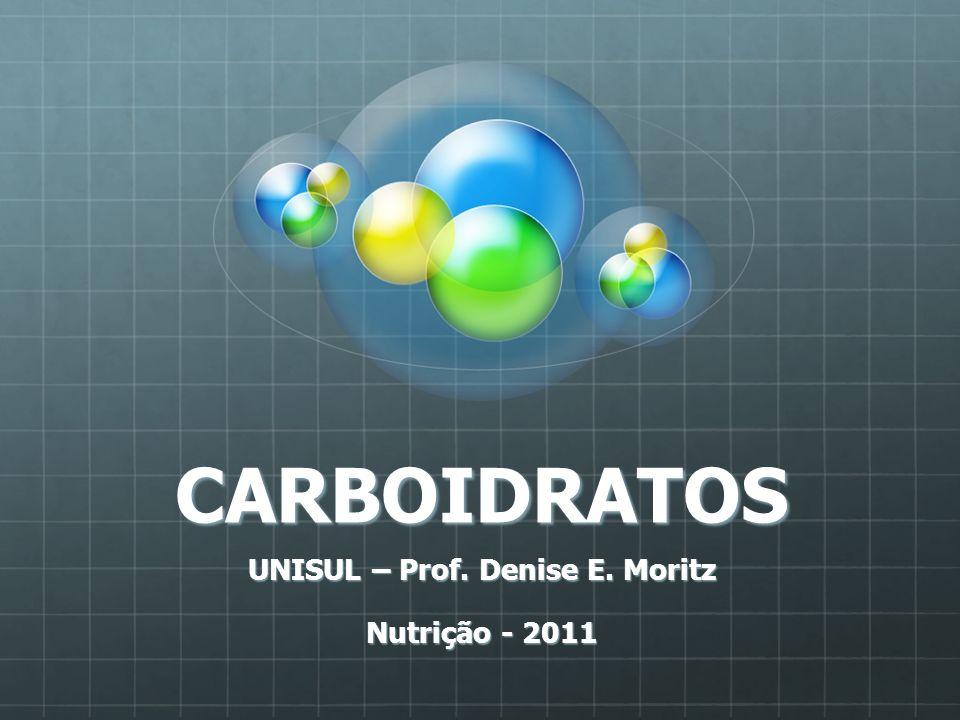 CARBOIDRATOS UNISUL – Prof. Denise E. Moritz Nutrição - 2011