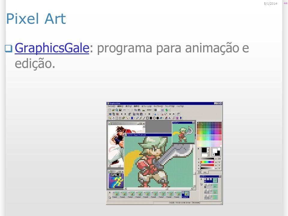 Pixel Art GraphicsGale: programa para animação e edição. GraphicsGale 44 5/1/2014