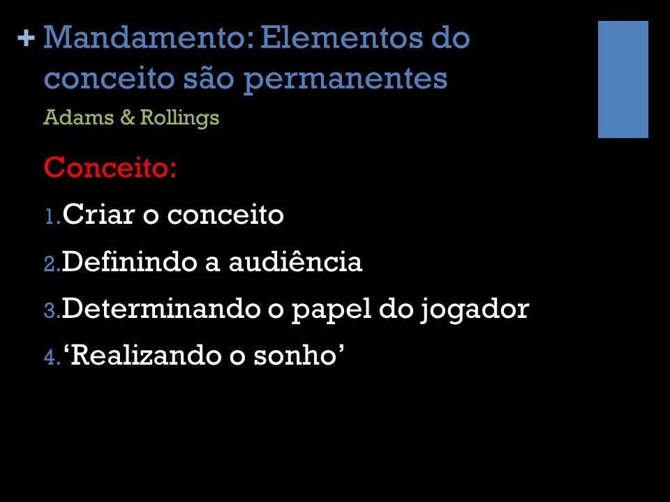 + Mandamento: Elementos do conceito são permanentes Detalhamento: 1.