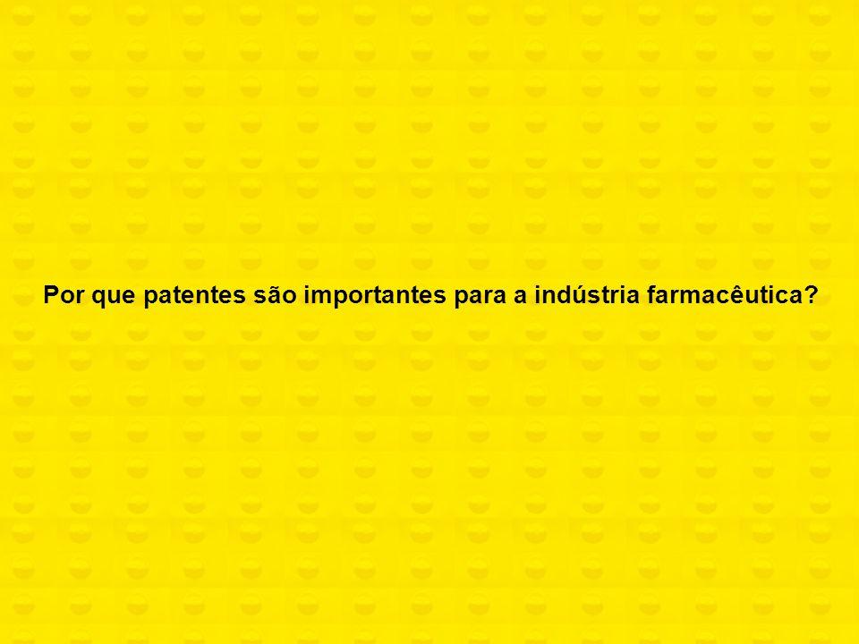 Indústria intensiva em conhecimento (science- based) Inovação é a principal estratégia para promover competição e ganhar mercado A proteção patentária é uma das formas de apropriação da inovação
