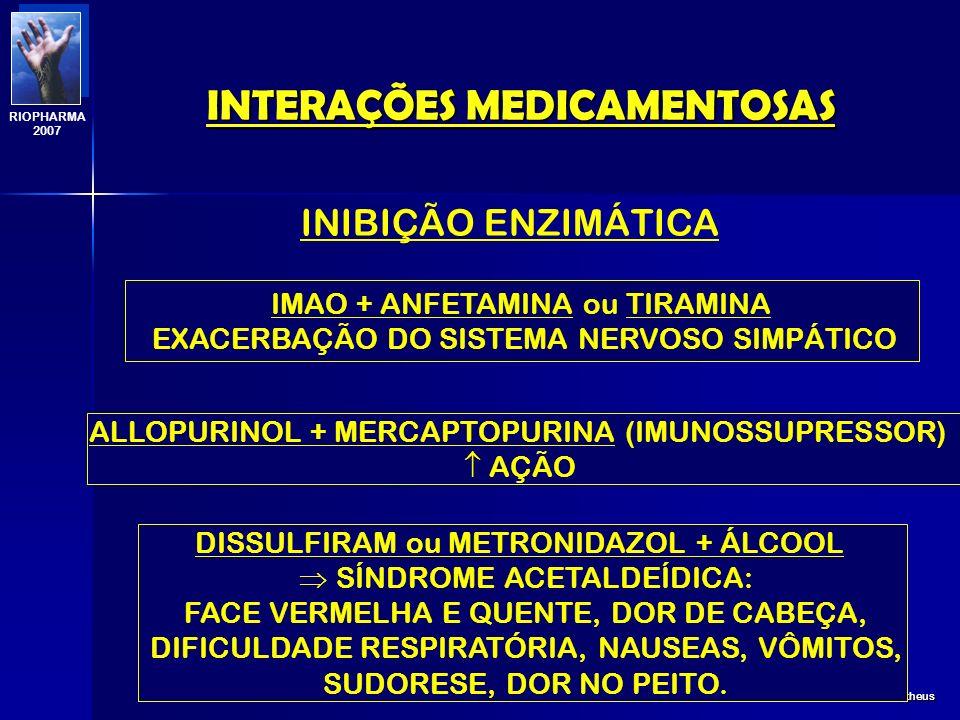 INTERAÇÕES MEDICAMENTOSAS Profa. Eline Matheus RIOPHARMA 2007 A INDUÇÃO AINDA PODE AUMENTAR A TOXICIDADE DE UM FÁRMACO DEVIDO A PRODUÇÃO DE UM METABÓL