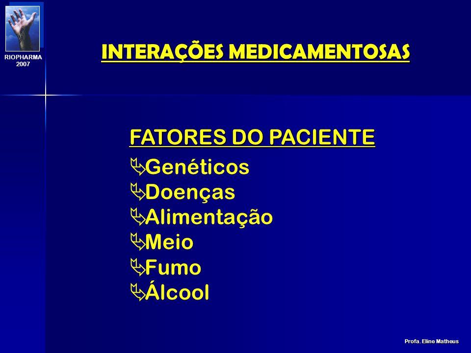 FORMAÇÃO DE SUBSTÂNCIAS INSOLÚVEIS FORMAÇÃO DE SUBSTÂNCIAS INSOLÚVEIS INTERAÇÕES MEDICAMENTOSAS Profa.