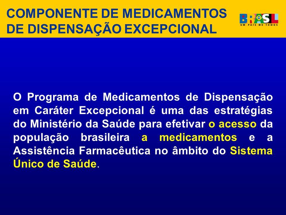 O Programa de Medicamentos de Dispensação em Caráter Excepcional é uma das estratégias do Ministério da Saúde para efetivar o acesso da população bras