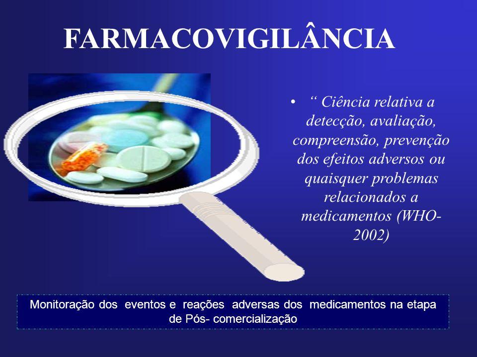 Monitoração dos eventos e reações adversas dos medicamentos na etapa de Pós- comercialização Ciência relativa a detecção, avaliação, compreensão, prev