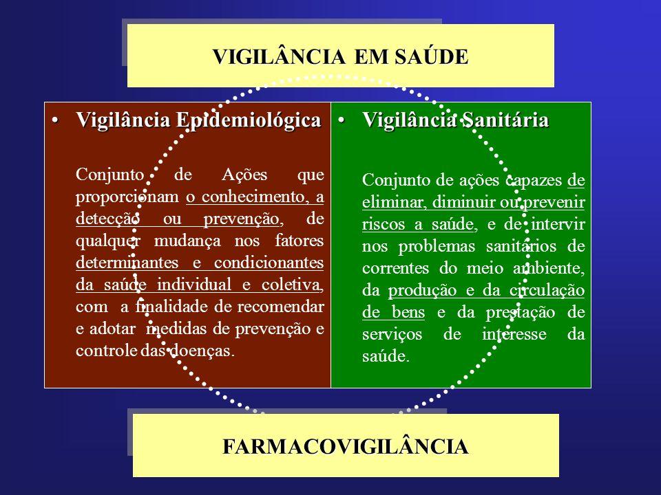 VIGILÂNCIA EM SAÚDE Vigilância EpidemiológicaVigilância Epidemiológica Conjunto de Ações que proporcionam o conhecimento, a detecção ou prevenção, de
