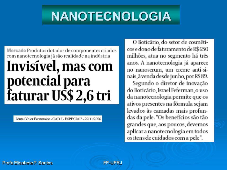 Profa Elisabete P. SantosFF-UFRJ NANOTECNOLOGIANANOTECNOLOGIA