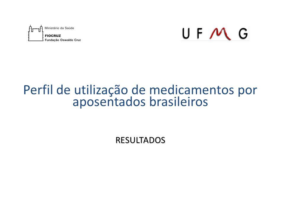 Perfil de utilização de medicamentos por aposentados brasileiros RESULTADOS