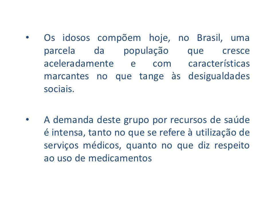 Os idosos compõem hoje, no Brasil, uma parcela da população que cresce aceleradamente e com características marcantes no que tange às desigualdades so