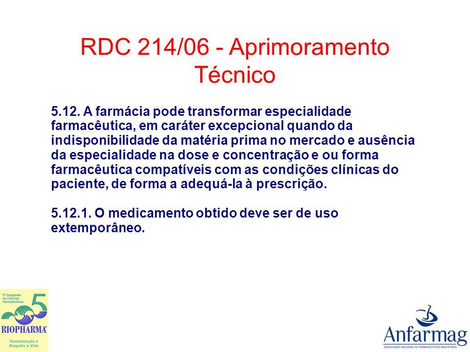 ANEXO I BOAS PRÁTICAS DE MANIPULAÇÃO EM FARMÁCIAS 3.3.2.