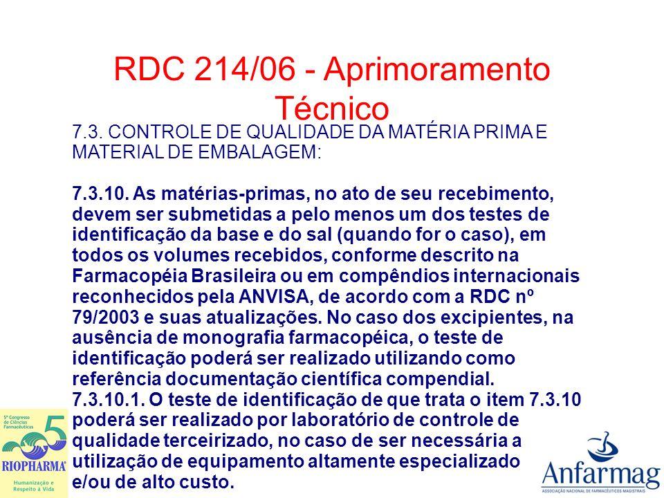 9.DOS CONTROLES 9.1. Controle de Qualidade das Preparações Magistrais e Oficinais.