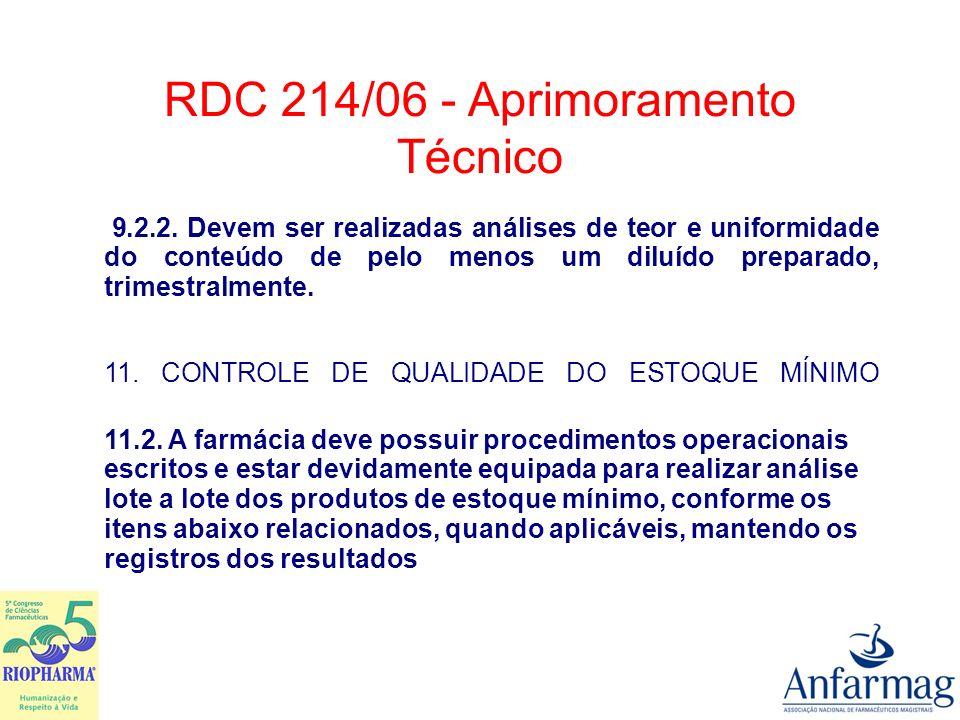 ANEXO III BOAS PRÁTICAS DE MANIPULAÇÃO DE HORMÔNIOS, ANTIBIÓTICOS, CITOSTÁTICOS E SUBSTÂNCIAS SUJEITAS A CONTROLE ESPECIAL 2.7.1.