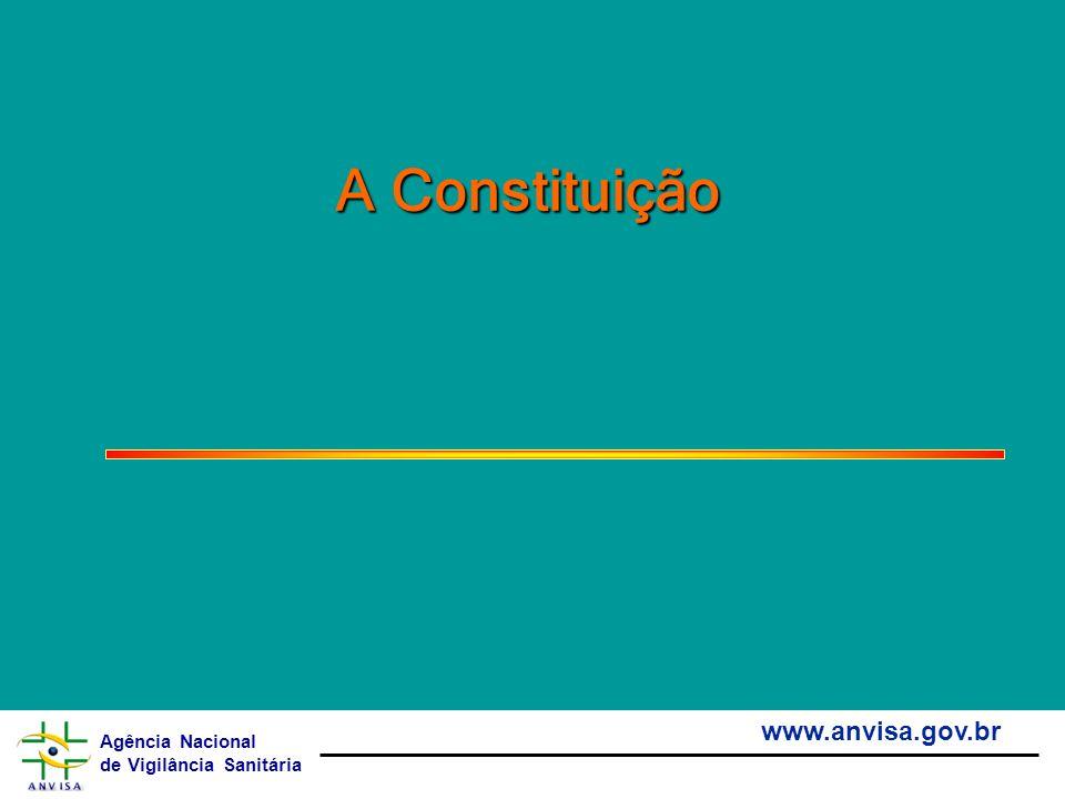 Agência Nacional de Vigilância Sanitária www.anvisa.gov.br A Constituição