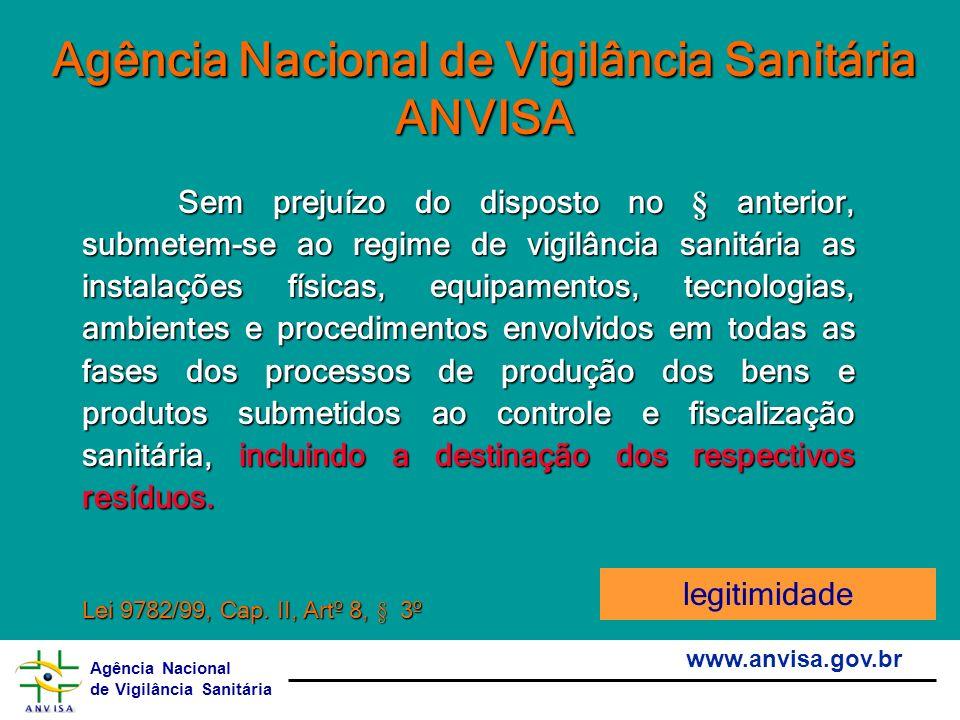 Agência Nacional de Vigilância Sanitária www.anvisa.gov.br Agência Nacional de Vigilância Sanitária ANVISA Sem prejuízo do disposto no § anterior, sub