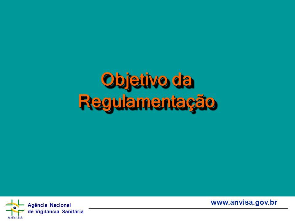 Agência Nacional de Vigilância Sanitária www.anvisa.gov.br Objetivo da Regulamentação