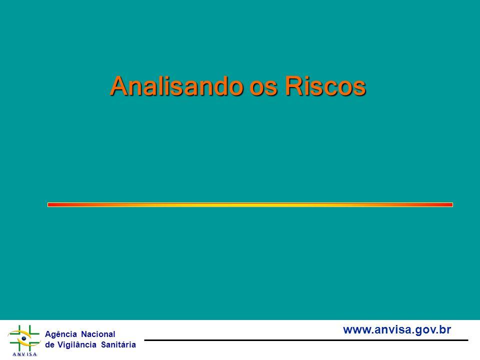Agência Nacional de Vigilância Sanitária www.anvisa.gov.br Analisando os Riscos