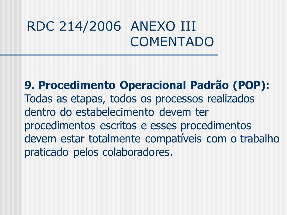 RDC 214/2006 ANEXO III COMENTADO 9.