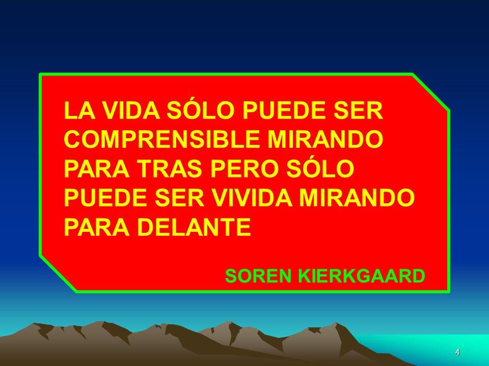 LA VIDA SÓLO PUEDE SER COMPRENSIBLE MIRANDO PARA TRAS PERO SÓLO PUEDE SER VIVIDA MIRANDO PARA DELANTE SOREN KIERKGAARD 4