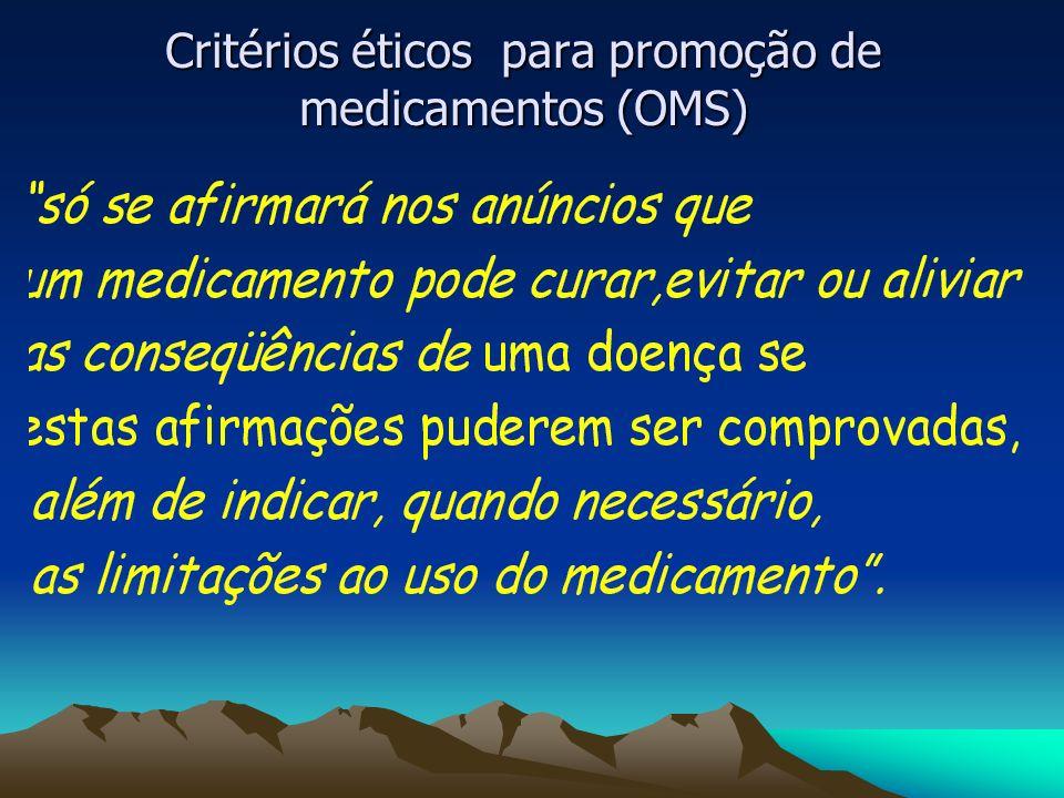 Critérios éticos para promoção de medicamentos (OMS)