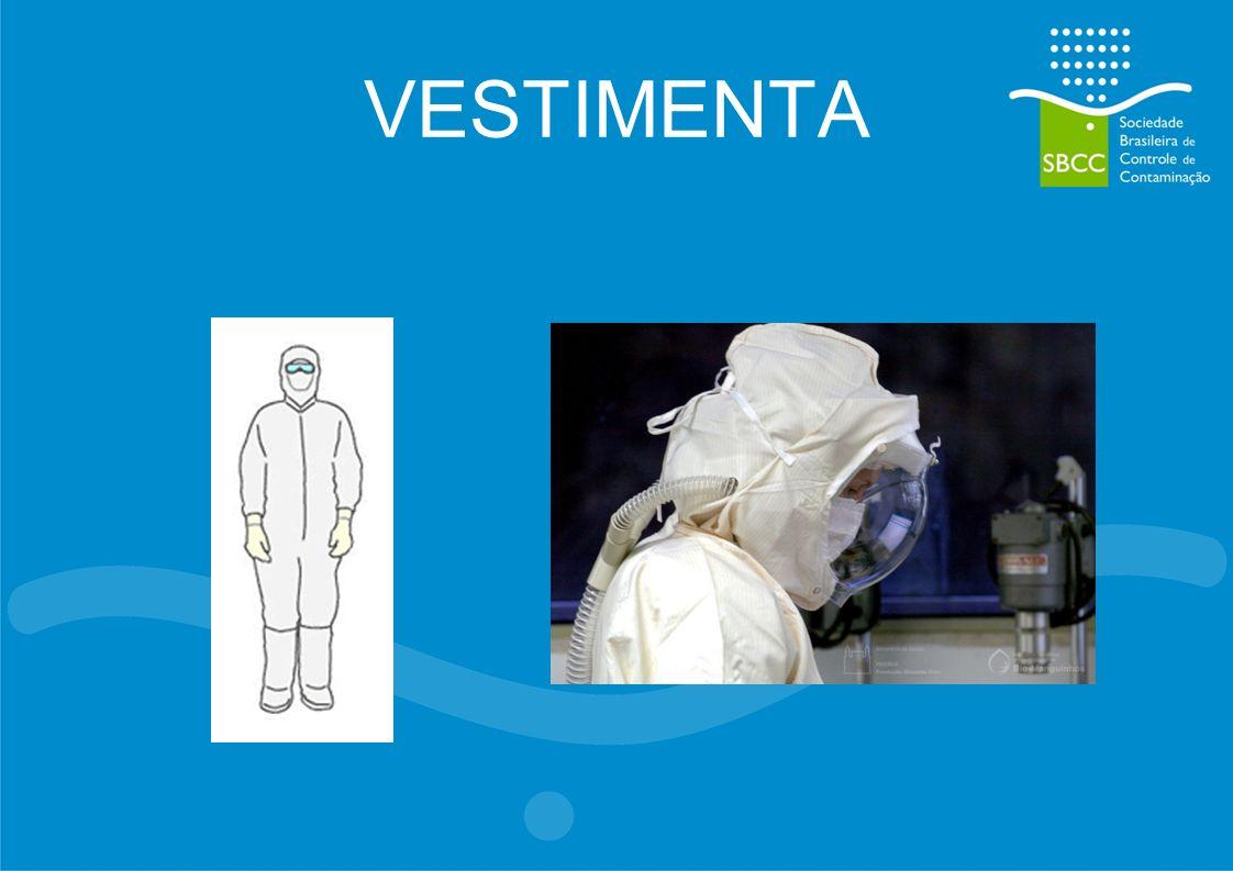 CFU/m 3 EM RELAÇÃO AO N 0 DE LAVAGENS Limite: 50 – 60 Ciclos Há necessidade de mais testes Cleanroom Clothing System – People as a contamination source.
