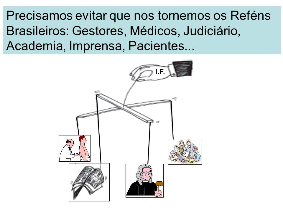 Precisamos evitar que nos tornemos os Reféns Brasileiros: Gestores, Médicos, Judiciário, Academia, Imprensa, Pacientes... I.F.