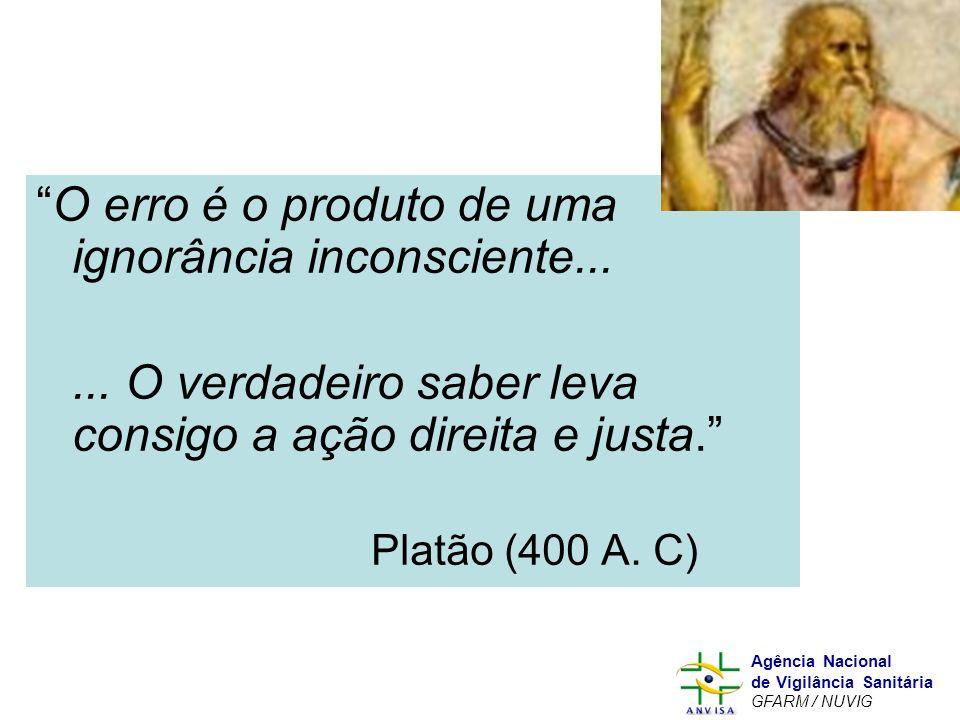 Murilo Freitas Dias Agência Nacional de Vigilância Sanitária GFARM / NUVIG O erro é o produto de uma ignorância inconsciente...... O verdadeiro saber