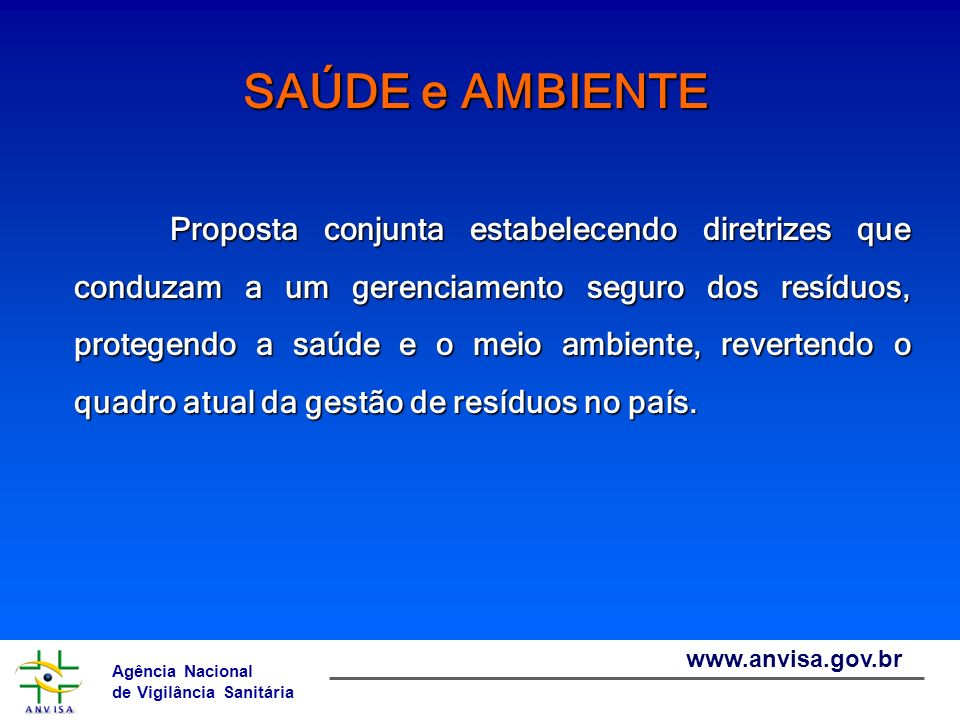 Agência Nacional de Vigilância Sanitária www.anvisa.gov.br RSS Químicos: Ativos: gerados atualmente, objeto do inventário.