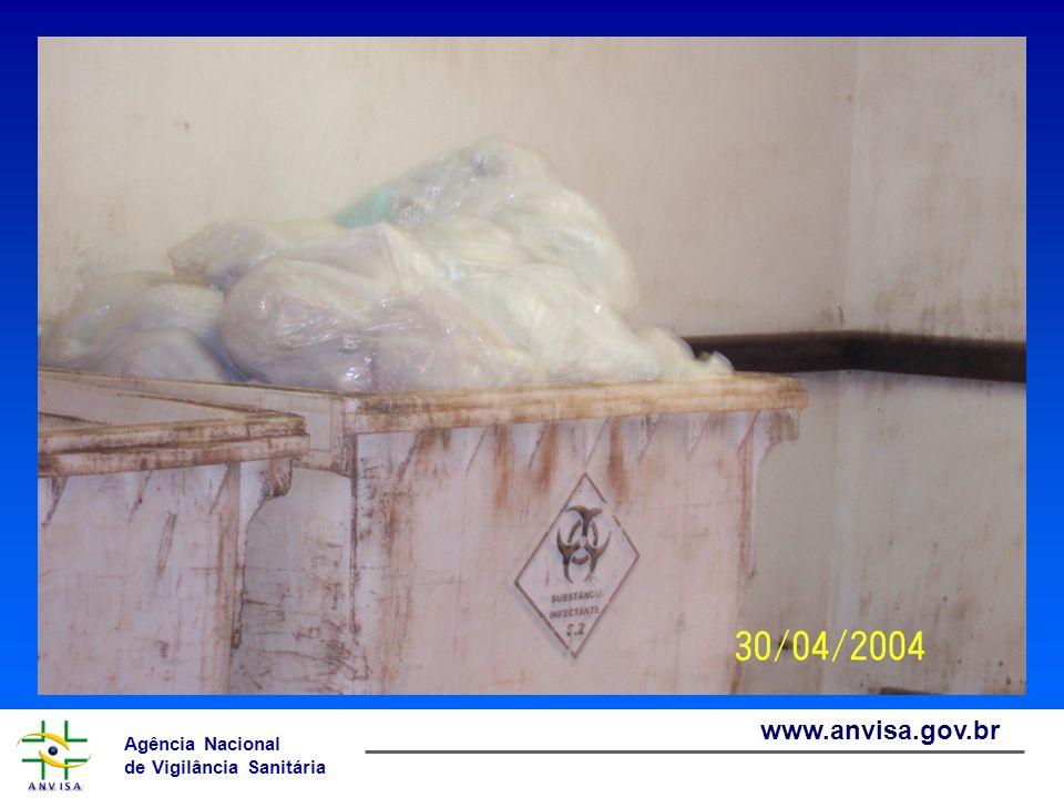 Agência Nacional de Vigilância Sanitária www.anvisa.gov.br PGRSS – Passo a Passo Passo 4 – Diagnóstico da situação dos RSS Quantidade de resíduo gerado, por setor, de acordo com a classificação da RDC Anvisa 306/04 (peso ou volume) Tipo de segregação em uso GERAÇÃO E SEGREGAÇÃO