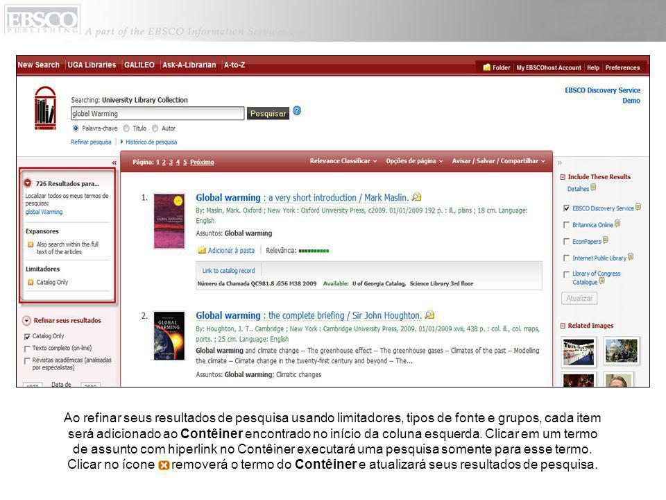 O Resumo detalhado inclui informações de citação de um artigo e links para o texto completo, quando disponível.