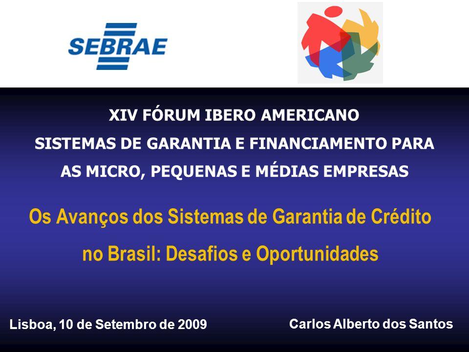 Os Avanços dos Sistemas de Garantia de Crédito no Brasil: Desafios e Oportunidades Carlos Alberto dos Santos XIV FÓRUM IBERO AMERICANO SISTEMAS DE GAR