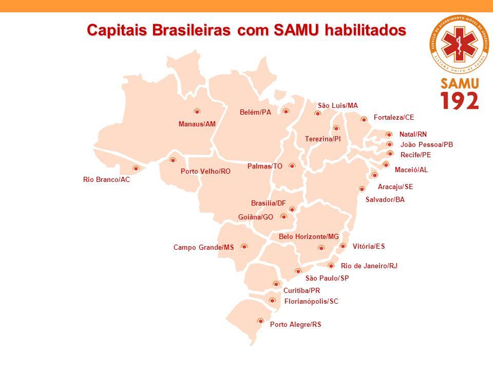Belém/PA São Luis/MA Terezina/PI Palmas/TO Fortaleza/CE Goiâna/GO Campo Grande/MS Belo Horizonte/MG São Paulo/SP Curitiba/PR Porto Alegre/RS Aracaju/S