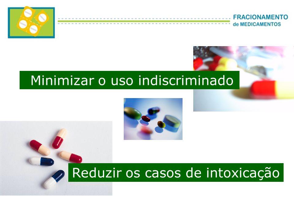 Minimizar o uso indiscriminado Reduzir os casos de intoxicação