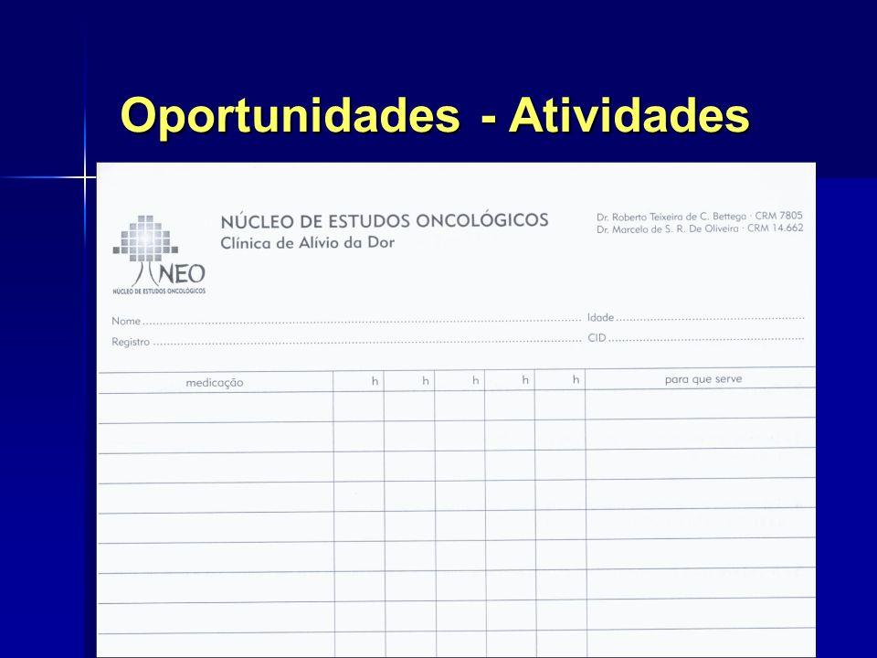 Oportunidades - Atividades TABELA GISTO