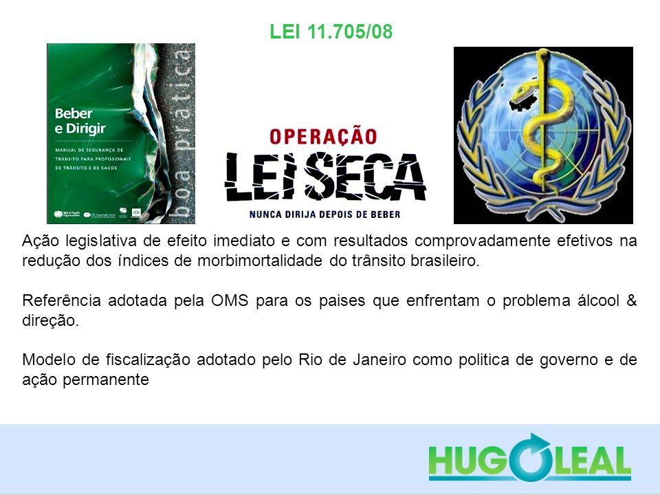 LEI 11.705/08 Ação legislativa de efeito imediato e com resultados comprovadamente efetivos na redução dos índices de morbimortalidade do trânsito bra