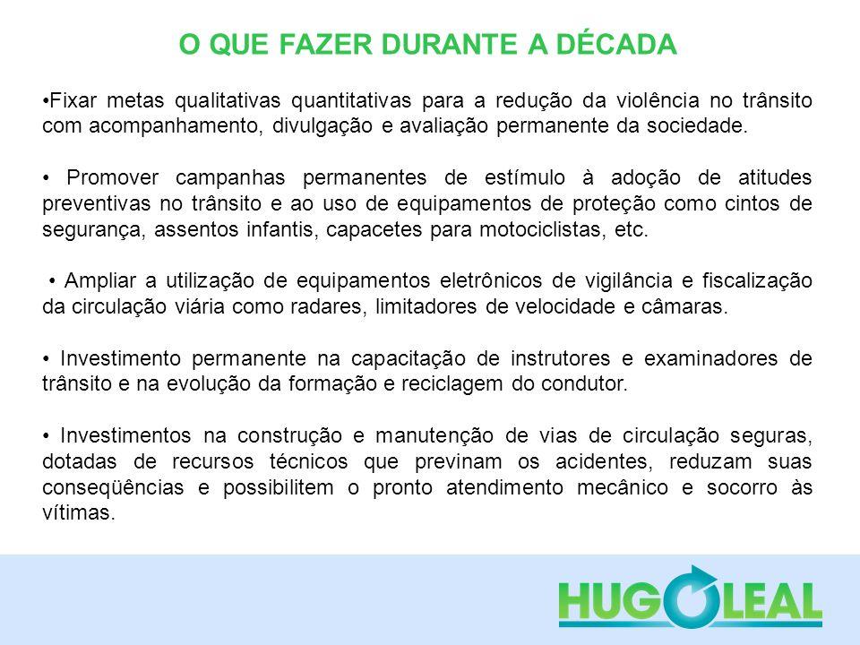 CRONOLOGIA BRASILEIRA PARA A DÉCADA O PRIMEIRO E INDISPENSÁVEL PASSO -Vontade e iniciativa política manifestada através de um compromisso público assumido com a sociedade brasileira .