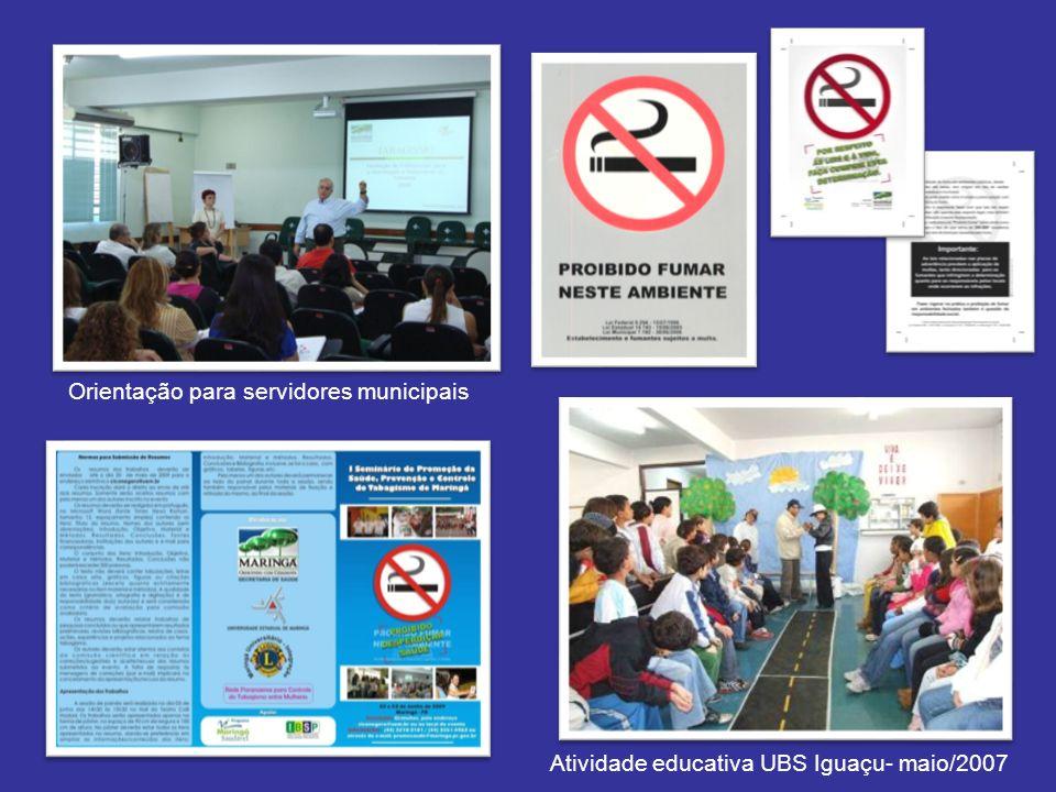 Orientação para servidores municipais Atividade educativa UBS Iguaçu- maio/2007