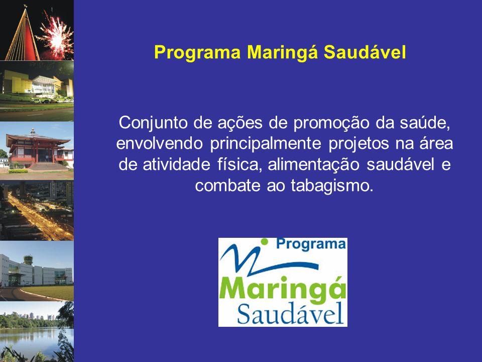 Programa Maringá Saudável Conjunto de ações de promoção da saúde, envolvendo principalmente projetos na área de atividade física, alimentação saudável