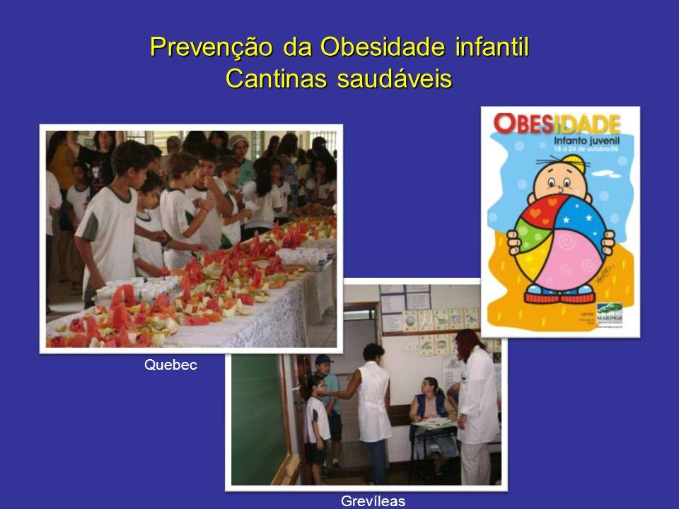 Prevenção da Obesidade infantil Cantinas saudáveis Grevíleas Quebec