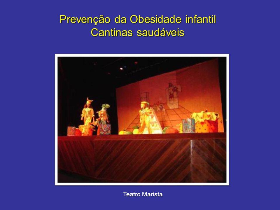 Prevenção da Obesidade infantil Cantinas saudáveis Teatro Marista
