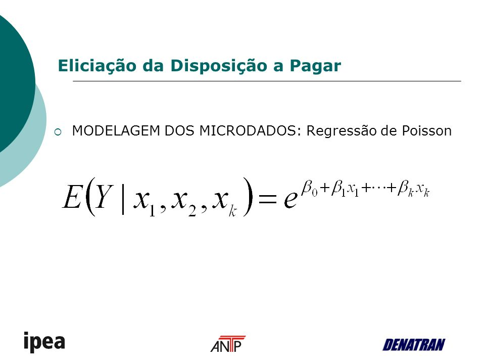 MODELAGEM DOS MICRODADOS: Regressão de Poisson Eliciação da Disposição a Pagar