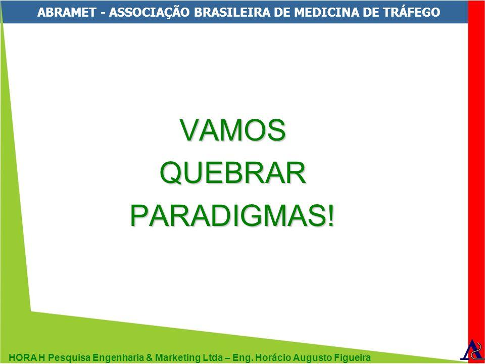 HORA H Pesquisa Engenharia & Marketing Ltda – Eng. Horácio Augusto Figueira ABRAMET - ASSOCIAÇÃO BRASILEIRA DE MEDICINA DE TRÁFEGO VAMOSQUEBRARPARADIG