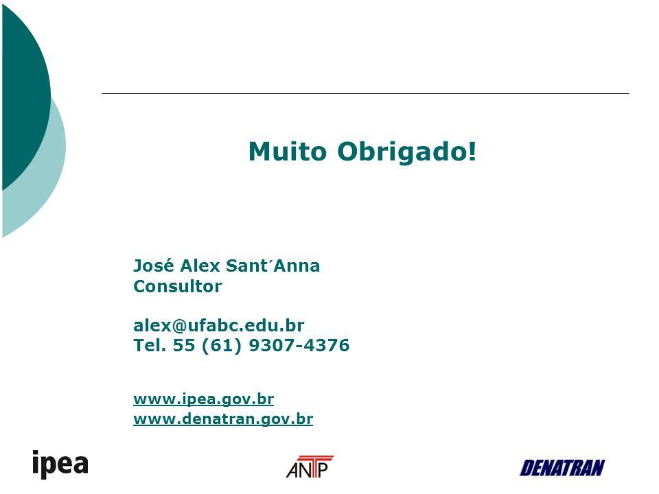 Muito Obrigado. José Alex Sant´Anna Consultor alex@ufabc.edu.br Tel.