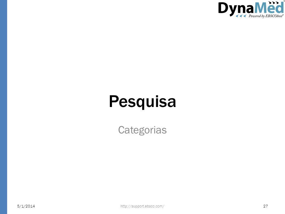 Pesquisa Categorias 5/1/2014http://support.ebsco.com/27