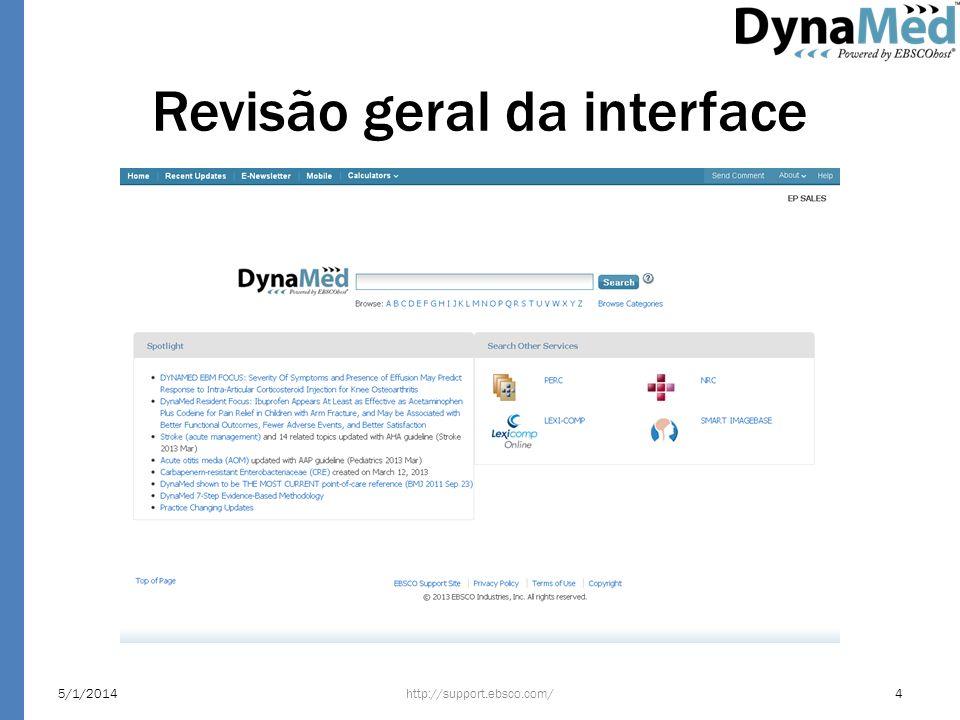 Revisão geral da interface http://support.ebsco.com/5/1/20144
